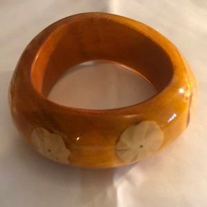 Jewelry. Wooden bangle highly polished.